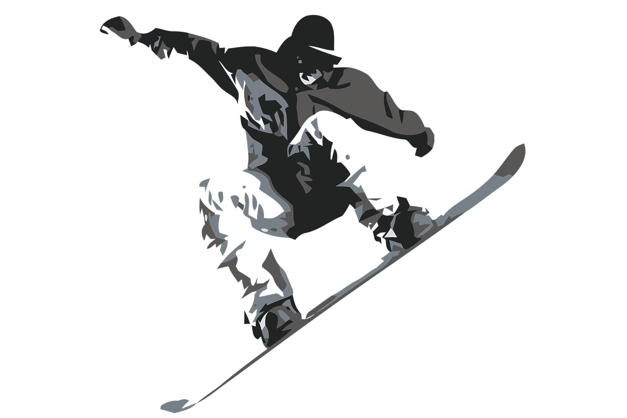 snow boarder, skying, sport