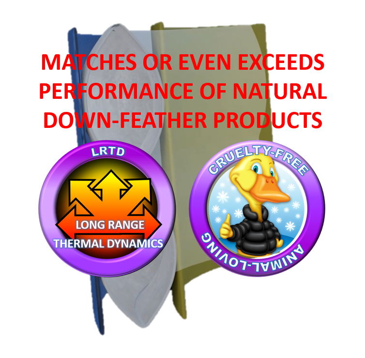 matches or even exceeds performance of natural down feather products
