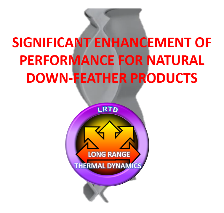 significant enhancement of performance for natural down feather products
