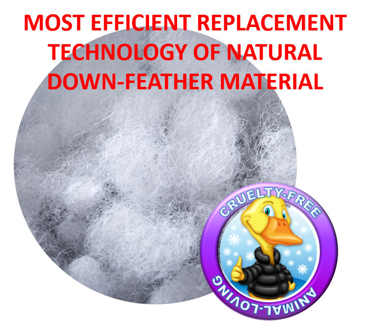 most efficient replacement technology of natural down feather material
