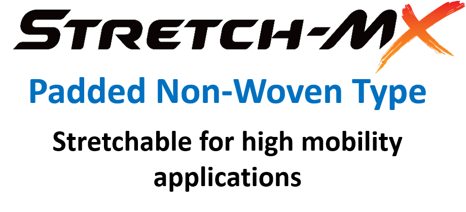 stretch mx padded non-woven type stretchable for high mobility applications